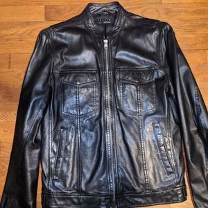 Theory Men's Zip Up Super Soft Leather Jacket S